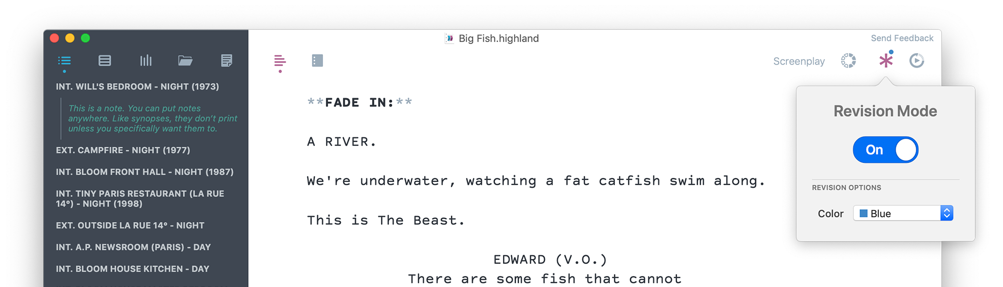 For Screenwriters | Highland 2